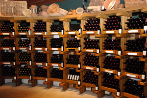 Wine Racks at a winery